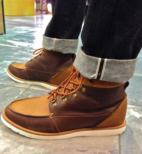 Makin collaboraatio kengät Hubin kanssa ja Selvage farkut