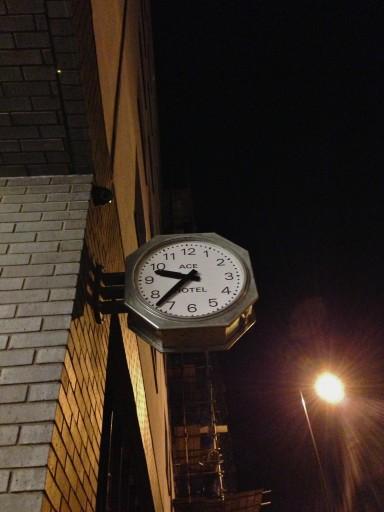 ACE hotel clock