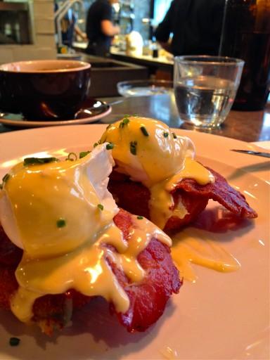 Eggs benedict Ozone London